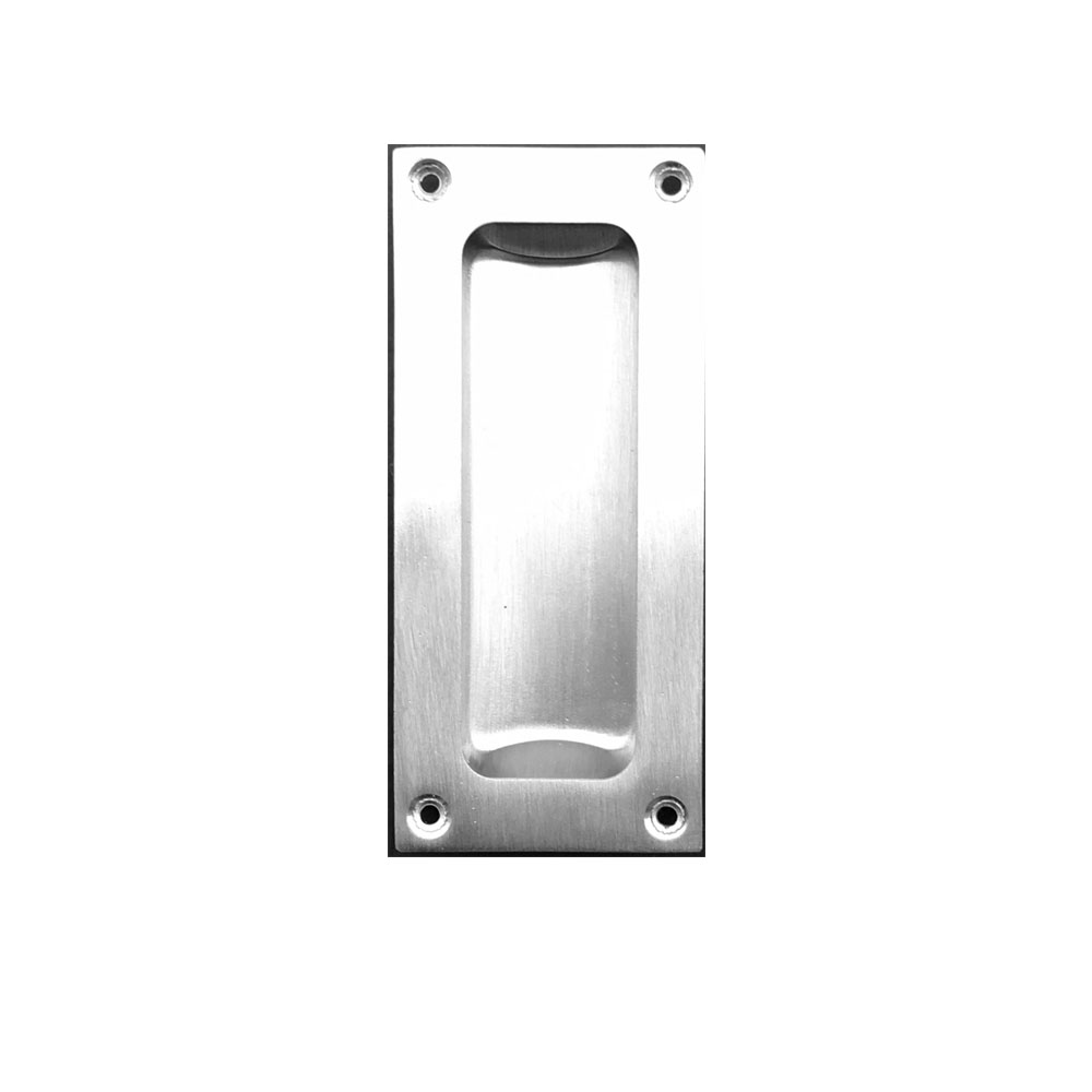 Finger Pull for Sliding Doors in Satin Nickel