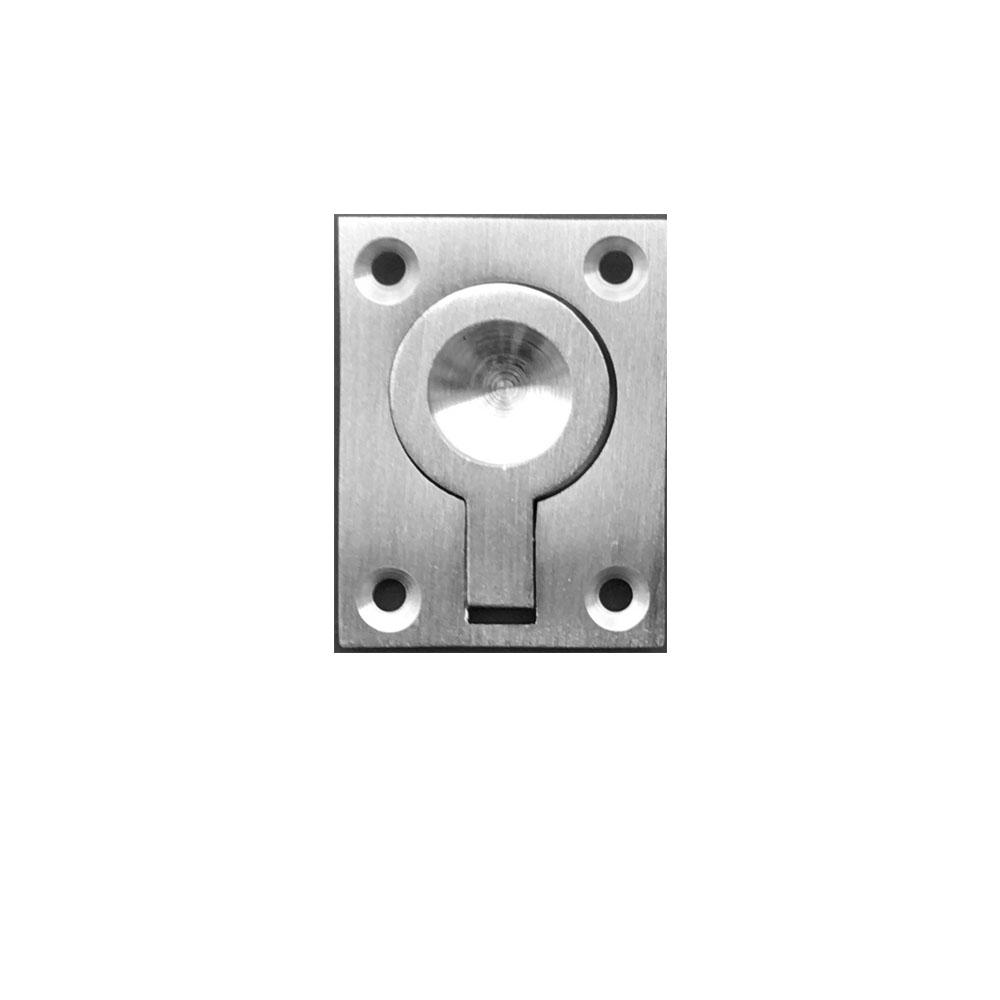 Ring Pull for Sliding Doors in Satin Nickel