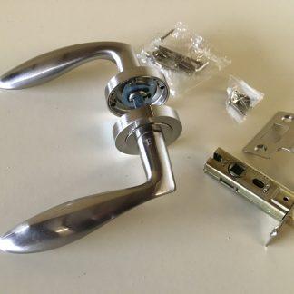 Arklow Premium Quality door Handle and Latch Set Satin Nickel